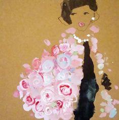 Flower Shawl  | Bridget Davies #Illustration
