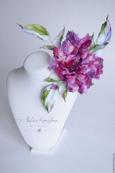 Купить Брошь-цветок. Розовая роза - Любовь. - шелковые цветы, цветы из шелка, анфиса корелова