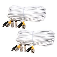 150feet Security Camera Surveillance DVR Video Power Cable with Power Supply CWC