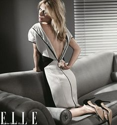 Claire Danes poses for Elle magazine's February issue, 2013