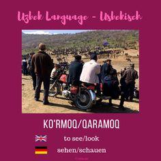 """Uzbek """"to see/look"""" ; Usbekisch """"sehen/schauen"""" #uzbeklanguage #usbekisch Uzbek Language, Movies, Movie Posters, Films, Film Poster, Cinema, Movie, Film, Movie Quotes"""