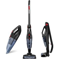 Deik Vacuum Cleaner, 2 in 1 Cordless Vacuum Cleaner, Lightweight Stick and Handheld Vacuum, High-power Rechargeable Bagless Vacuum with Upright Charging Base - When storage is limited, you may find yourself at a loss as to what vacuum would fit in your home. But fret no more with the Cordless 2-in-1 Folding Vacuum Cleaner from Deik.Designed to be bagless, cordless and including an innovative folding handle, this vacuum is ideal for small households, fla...