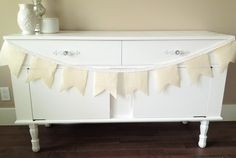 Custom bunting and garlands made to suit your celebration. Fabric Bunting, Garlands, Bassinet, Buffet, Celebration, Wedding Decorations, Suit, Design, Home Decor