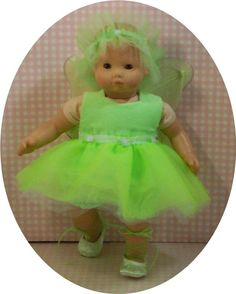 5 piece apple green fairy outfit..