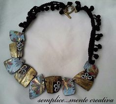New polymer clay necklace