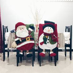 Best 12 My cutee christmas chair cover ❤️⛄️ Xmas Eve Boxes, Christmas Chair Covers, Christmas Decorations, Holiday Decor, 1st Christmas, Cover Pages, Christmas Stockings, Cross Stitch, Quilts