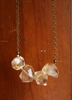 thallo // citrine faceted nugget necklace Lunamoths