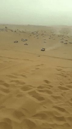 car crashes into another in the desert