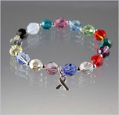 Large Bead Cancer Awareness Bracelet - Exquisite Handcrafted Beaded Jewelry by Vael Designs