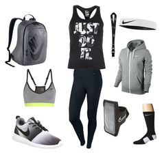 """Tamiaming_22 outfit"" by lyricsims ❤ liked on Polyvore featuring NIKE, women's clothing, women's fashion, women, female, woman, misses and juniors"