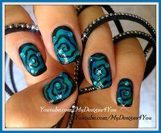 Hypnotic+Swirl+Halloween+Nails