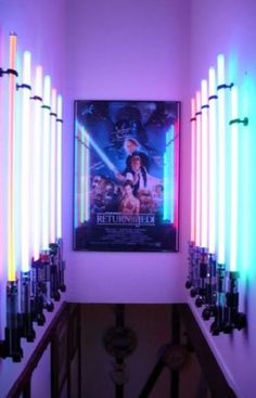 This is a great idea for the area above the stairs that leads one down to our basement area (aka dungeon/man cave)