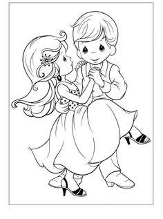 Precious Moments Kleurplaten voor kinderen. Kleurplaat en afdrukken tekenen nº 17