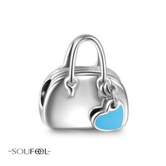 Love Shopping Charm 925 Sterling Silver. Let's we travling with your package, and your lover! Have a good trip~SOUFEEL Charms for every memorable day!