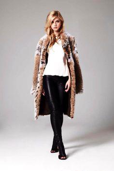 Lilly E Violetta Cat Lynx Fur Coat