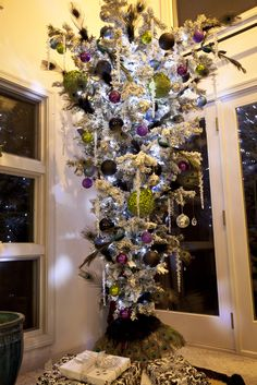 peacock upside down christmas tree