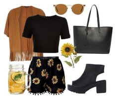 """""""I'm waiting for summer☀️"""" by gladyshevaa on Polyvore featuring мода, Dorothy Perkins, Ted Baker, Yves Saint Laurent и Oliver Peoples"""