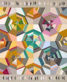 Octagon Shimmer designed by Jennifer Sampou. Features #studiostashfabric by Jennifer Sampou, shipping to stores January 2016. Fat quarter friendly!