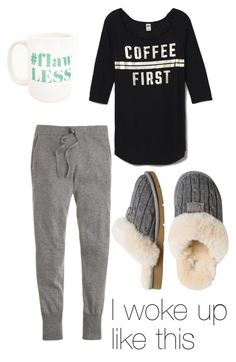"""""""Rolling out of bed"""" by thelizzielou ❤ liked on Polyvore featuring J.Crew, Victoria's Secret PINK, Moon and Lola and UGG Australia"""