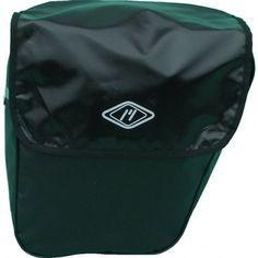 Coppia di borse nere posteriori per bicicletta in pvc.