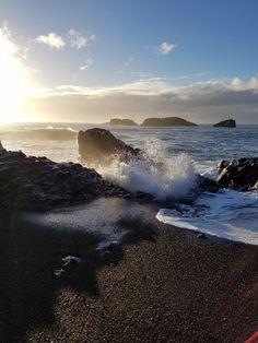 Black Sand Beach near Dyrhólaey Iceland [OC] [3024x4032]