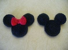 Mickey and Minnie Head Appliques  Take 2 of them by TheLooks, $4.00