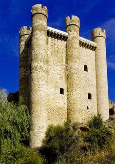 L'impressionant castell de Valencia de Don Juan, també conegut com castell de Coyanza, Castilla-León  Spain