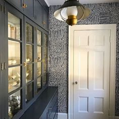 Take two: a pantry in a colonial home is transformed by our #Featherfest #wallpaper. Contemporary or classic, pattern happy or color crazy-- we make products for your unique point of view. Keep on sharing how you make your mark with our designs using #Schustagram. Interior by @SarahPSullivan. #MakeYourMark1889
