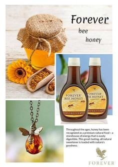 Forever Bee Honey® A great-tasting, all natural sweetener loaded with nature's goodness. Forever Living Aloe Vera, Forever Aloe, Forever Living Products, Forever France, Aloe Blossom Herbal Tea, Honey Bee Pollen, Aloe Berry Nectar, Natural Energy Sources, Forever Freedom