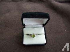 peridot and diamond ring - $75 (lakewood)