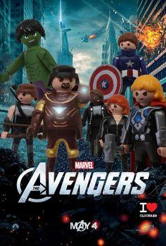 Películas memorables hechas con Playmobil Playmobil Toys, Figure Model, Niece And Nephew, Superhero Party, Lego City, Jouer, Marvel Avengers, Play Mobile, Kids