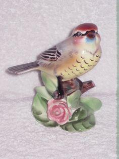 Shafford Bluebird Blue Bird Salt and Pepper Shakers Branch Ceramic Kitsch Vintage Made in Japan Birdie Finch?