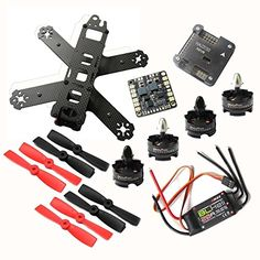 Hobbypower DIY 210 Racing Quadcopter Frame Kit with T2204 2300KV Brushless Motor BLHeli 20A ESC NAZE32 6DOF Flight Controller for 210mm FPV Drone Building -- Details can be found by clicking on the image.