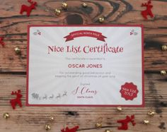 Nice List Certificate Official North Pole par CleverAfterCreations