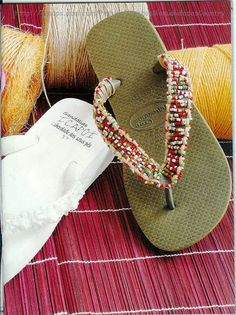 Revista aprender a bordar chinelos