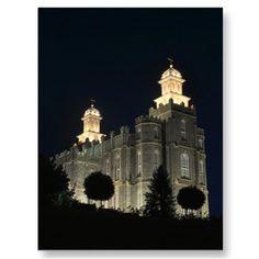 LDS Mormon Temple Logan,  Utah Postcard