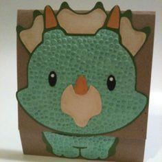 Dino vertical gate fold style card