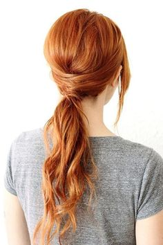 10 Gorgeous Holiday Party Hairstyles: Crisscross Ponytail  #hairstyles #hair #partyhair