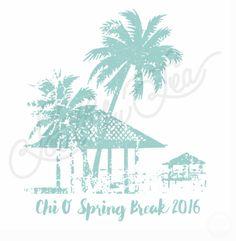 Chi Omega   Chi O   Spring Break   Tropical Beach Design   Palm Tree   South by Sea   Greek Tee Shirts   Greek Tank Tops   Custom Apparel Design   Custom Greek Apparel   Sorority Tee Shirts   Sorority Tanks   Sorority Shirt Designs