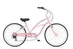 Attn: Bike Babes! The Ultimate Guide To Beach Cruisers #refinery29  http://www.refinery29.com/miami-beach-bikes#slide-2   While customizing cruisers is totes up our alley, there is possibly nothing that could make this classic pink two-wheeler any more adorable, except maybe a pinwheel. And best of all, we could ride it right out of the store!  Electra Cruiser 7D Women, $299, available at Macks ...
