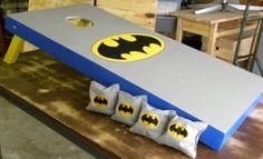 Batman Cornhole Board and Bag Design