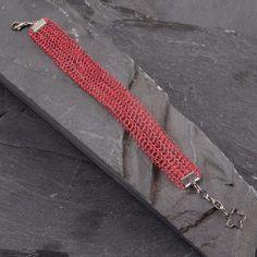 Adjustable Crochet Wire Lace Cuff Bracelet by StudioDjewelry, $61.00