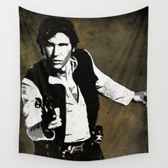 Star Wars Hans Solo. Available in three distinct sizes, our Wall Tapestries are made of 100% lightweight polyester with hand-sewn finished edges. Featuring vivid colors and crisp lines, these highly unique and versatile tapestries are durable enough for both indoor and outdoor use. Machine washable for outdoor enthusiasts, with cold water on gentle cycle using mild detergent - tumble dry with low heat.