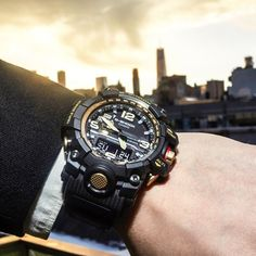 Every hour is the golden hour with the G-SHOCK GWG1000GB-1A Master of G.