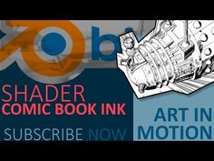 Blender Tutorial : Comic book/ Manga ink shader - YouTube