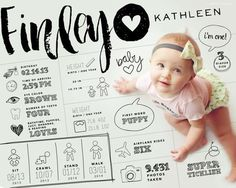 We love the range of information this infographic includes, and OF COURSE those little baby cheeks are the best part.  http://thestir.cafemom.com/baby/186711/16_creative_photo_ideas_for/133141/growth_graphic/4?utm_medium=sm&utm_source=pinterest&utm_content=thestir