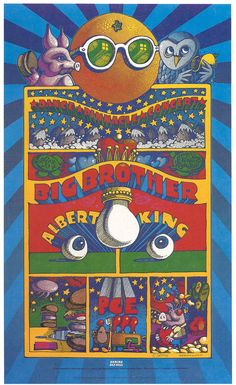 "Janis Joplin and Big  Brother and the Holding Company ....... Albert King ....... .1968 ...    ""Shrine"" Concert Poster ......    artist ..... RICK GRIFFIN"