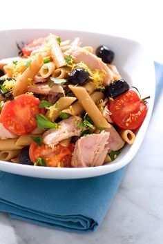 Roasted Tomato & Tuna Penne with Oil-Cured Olives image