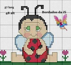 This Pin was discovered by Mar Butterfly Cross Stitch, Cross Stitch Baby, Cross Stitch Flowers, Cross Stitching, Cross Stitch Embroidery, Embroidery Patterns, Cross Stitch Patterns, Stitch Doll, Cool Patches