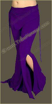 Tribe Nawaar Flared Leg Purple Sassy Pants for Tribal Fusion Belly Dance Hoop Dance and Grape Yoga Pants Gypsy Wear Clothes Burning Man Clothing Burner Pants Raver Gear